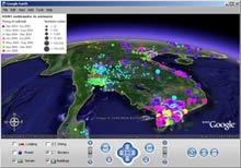 Карта распространения птичьего гриппа на базе Google Earth